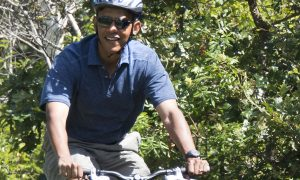 Obama Leg Bumps: Questions Arise Over President's Bike Photo