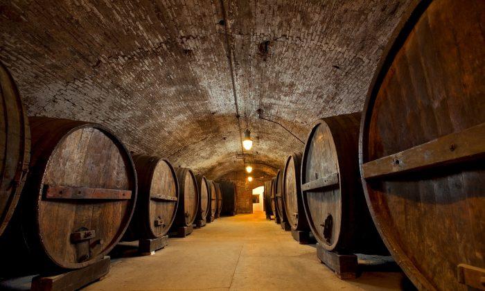 Brotherhood Winery's underground cellars in Washingtonville, New York. (Courtesy of Tomas Donoso)