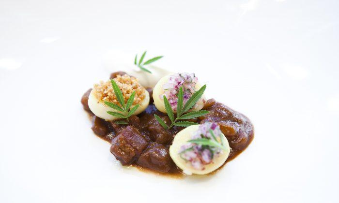 A dish at Raymi, a restaurant in the Flatiron District. (Samira Bouaou/Epoch Times Staff)