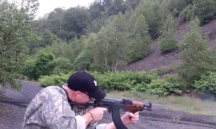 A screenshot of YouTube shows Mark Kessler shooting.