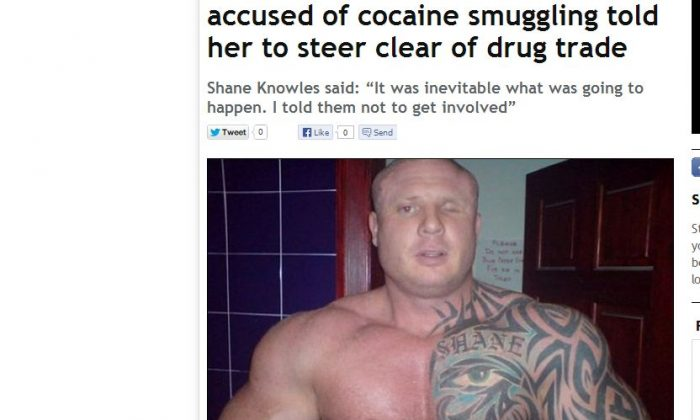 A screenshot of The Mirror shows Shane Knowles.