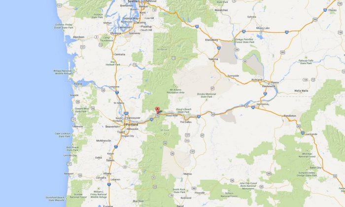 A screenshot of Google Maps shows  the location of Stevenson, Washington.