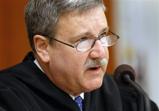 San Francisco Superior Court Judge Curtis E.A. Karnow questions the attorneys present Sunday, Aug. 11, 2013. Karnow agreed to a request by California Gov. Jerry Brown for a 60-day cooling-off period in the BART negotiations. Trains will run no matter how the talks between BART management and the unions go. (AP Photo/San Francisco Chronicle, Brant Ward, Pool)