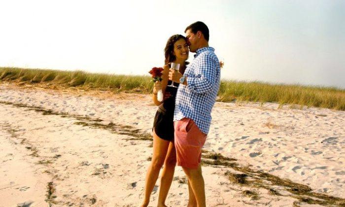 Jennifer Hyman and Peter Mack in a photo from their wedding website. (http://jenniferandpete.com/)