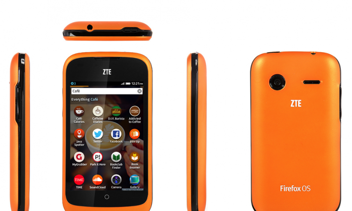 The ZTE Open Firefox OS phone is shown in a promotional image. After Congressional warnings about security risks posed by doing business with ZTE, the Chinese telecom released a phone using the new Firefox OS. (ZTE)