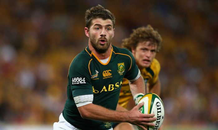 Springboks wing Willie Le Roux has run into form ... Le Roux is seen here making a break during the Rugby Championship match against the Australian Wallabies on Sept 7, 2013. (Cameron Spencer/Getty Images)