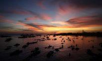 Philippine Rebel Standoff at Sunset