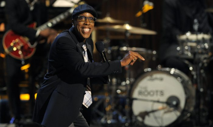"This Nov. 3, 2012 file photo shows Arsenio Hall performing at ""Eddie Murphy: One Night Only,"" a celebration of Murphy's career in Beverly Hills, Calif. (Chris Pizzello/Invision/AP, File)"