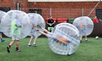 Bubble Football at Astro Park Will Have You in Stitches