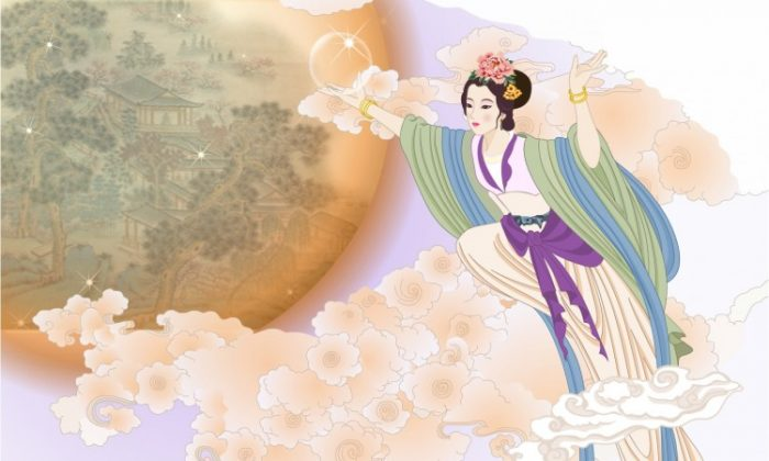 Chang'e, goddess of the moon. (Ziyou Huang/Epoch Times)