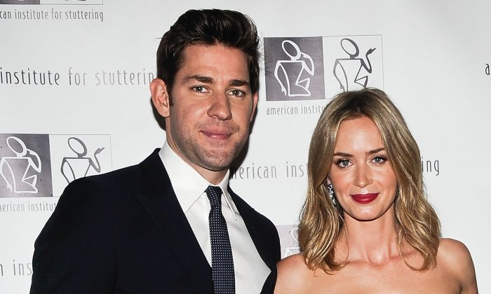 John Krasinski and Emily Blunt attend the 7th Annual 'Freeing Voices, Changing Lives' Benefit Gala at Tribeca Rooftop in New York City on June 3, 2013. (Daniel Zuchnik/Getty Images)