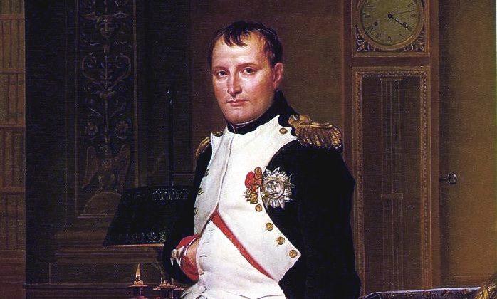 Napoleon Bonaparte was triskaidekaphobic, that is, he had a fear of the number 13. picture by Jacques-Louis David (Public domain)