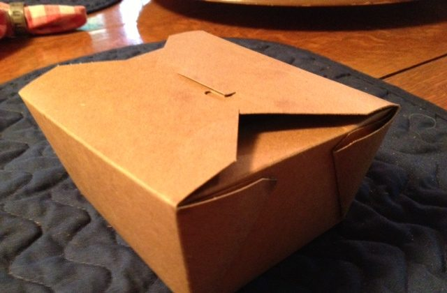 Half Your Restaurant Meal   Boxed Up in the Kitchen
