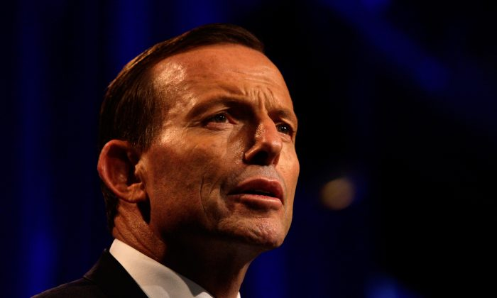 Australian Prime Minister-elect, Tony Abbott claims victory in the 2013 Australian Election in Sydney, Australia, on Sept. 7, 2013. (Lisa Maree Williams-Pool/Getty Images)