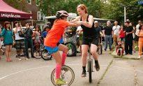 Unicycle Wrestling Match