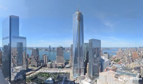 A screenshot from EarthCam's time-lapse video of construction at the World Trade Center site from October 2004 to September 2013.