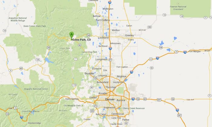 Estes Park in Colorado has experienced flooding, which is forcing some evacuations. (Google Maps)