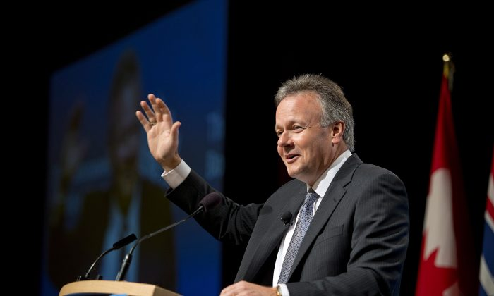 Bank of Canada Governor Stephen Poloz speaks to the Vancouver Board of Trade in Vancouver on Wednesday, Sept. 18, 2013. (The Canadian Press/Jimmy Jeong)