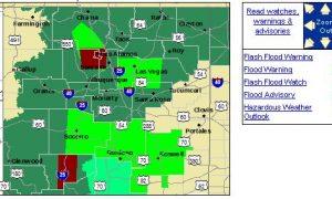 Los Alamos, Santa Fe, Rio Arriba Counties in New Mexico Under Flash Flood Emergency