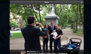 Mitt Romney 'Photobombed by Alexander Hamilton's Feet;' Twitter Reacts