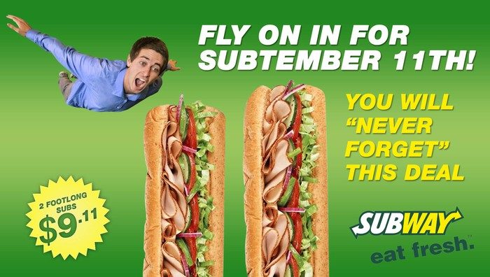 A fake ad created by The Onion, a satirical news outlet, that has offended Subway, and others. (The Onion)