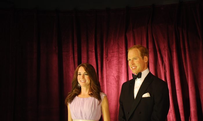 The Duke and Duchess of Cambridge, wax figures at Madame Tussauds in Washington, D.C. A team in London constructs Madame Tussaud's wax figures before shipping them to be viewed at Madame Tussaud's locations around the world. (Ron Dory/Epoch Times)