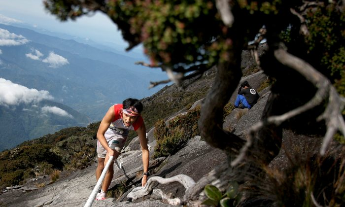 A participant runs through the gruelling course during the 2013 Mount Kinabalu Climbathon on October 19, 2013 in Kundasang, Sabah, Malaysia. The Climbathon, which first started in 1987, has now gained the International Skyrunning Federation accredititation that draws top international runners from various countries who race to gather points with the aim of becoming the series world champion. (Rahman Roslan/Getty Images)