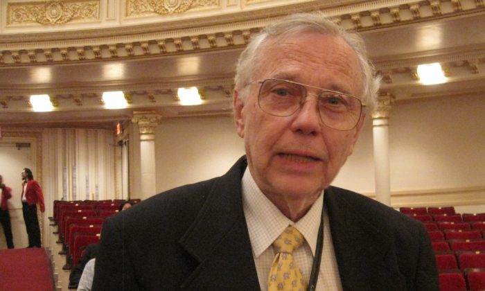 James Chladek at Carnegie Hall, New York, on Oct. 6, 2013. (Amelia Pang/Epoch Times)