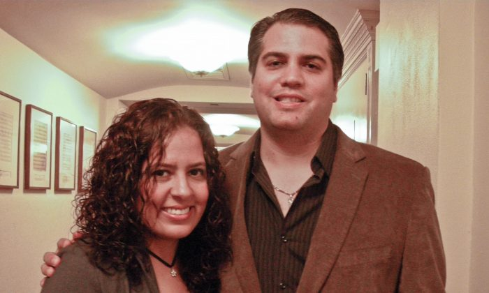 Niurka Vidal and her husband Jason at Carnegie Hall, New York City, Oct. 5, 2013.