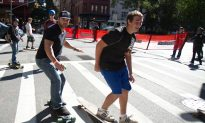 Skateboarder's 'Broadway Bomb' Almost Defused in NYC