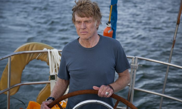'All Is Lost' stars Robert Redford in this one-hander directed by J.C. Chandor (Courtesy BFI London Film Festival)
