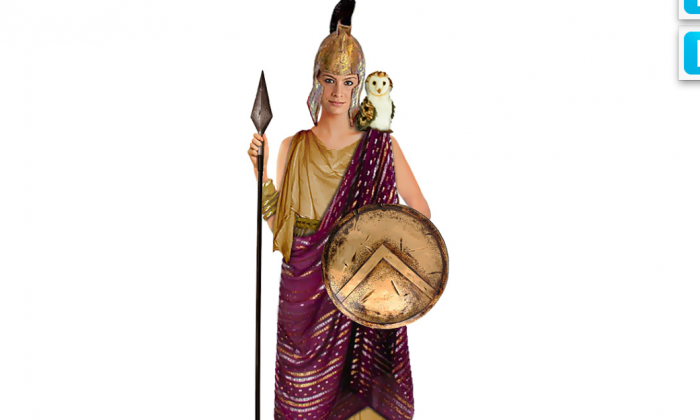 """This """"Athena"""" goddess costume featured on the Take Back Halloween website was created to provide nonsexual Halloween costume ideas for girls. A child advocacy group says costume makers are marketing sexy Halloween apparel to girls as young as 7. (Courtesy TakeBackHalloween.com)"""