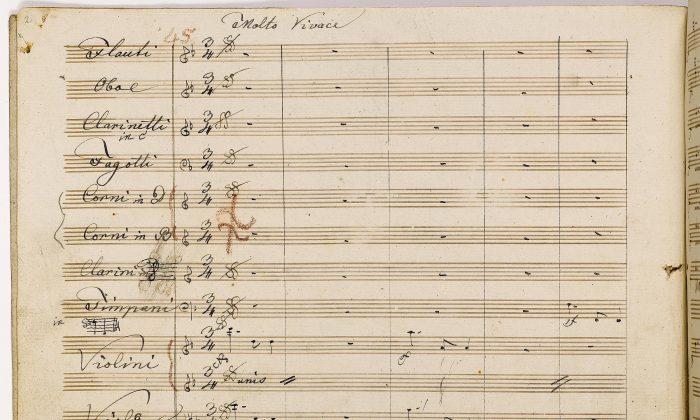 Beethoven's Ninth Symphony Manuscripts on Display at Morgan