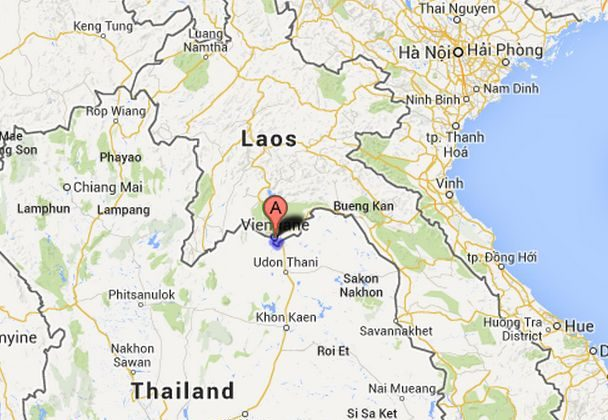 Vientiane, Vientiane Prefecture, Laos, where a Lao Airlines flight departed Wednesday before crashing in the Mekong River. (Google Maps)