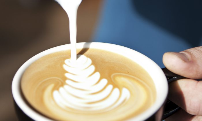 Pouring the perfect cup of latte. (Courtesy of Adam Craig)