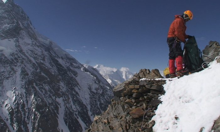 "A climber on K2 in the documentary ""The Summit.""  (Robbie Ryan)"