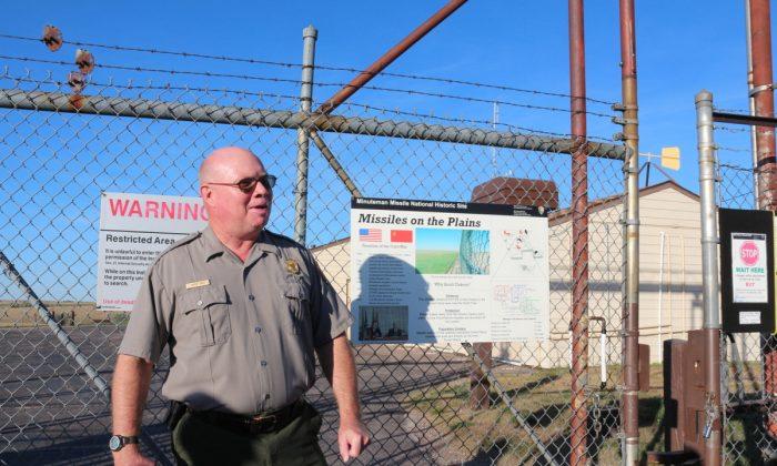 Interpretative Ranger Butch Davis outside Delta 01, Minuteman missile control center 17 miles from Wall, South Dakota. (Myriam Moran copyright 2013)