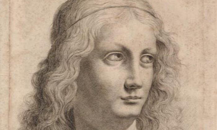 This engraving by Girolomo Mantelli may be a copy of a lost da Vinci. (Courtesy collection of Abel Landrum)
