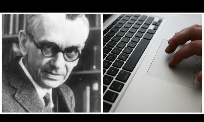 Right: Kurt Gödel, public domain; Justin Sullivan/Getty Images