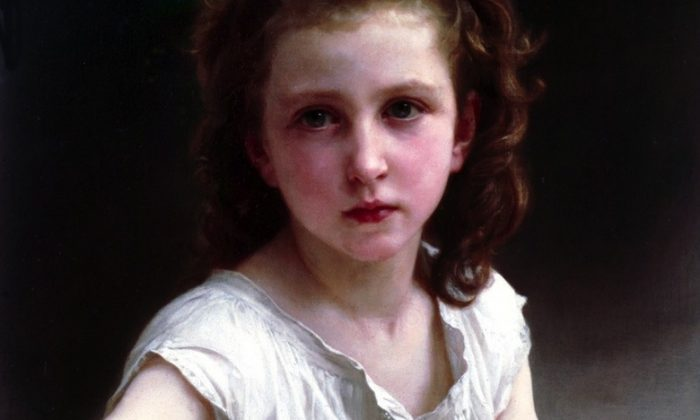 """A selection from """"Une vocation,"""" 1890, by William Adolphe Bouguereau (William Bouguereau) (1825-1905). Oil on canvas, 22.05 by 17.91 inches. (Courtesy of Art Renewal Center)"""
