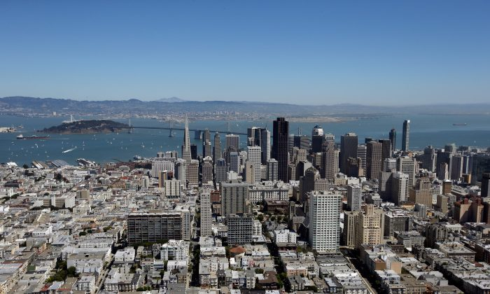 An aerial view of San Francisco, Sept. 7(Ezra Shaw/Getty Images)