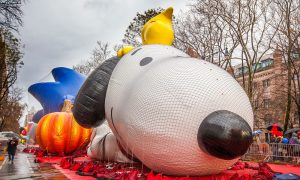 A Thanksgiving Face-Off: Macy's Parade Balloons Against Wind Gusts