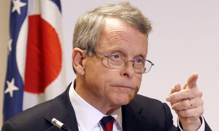 Gov. Mike DeWine in a file photo.  (AP Photo/Keith Srakocic)