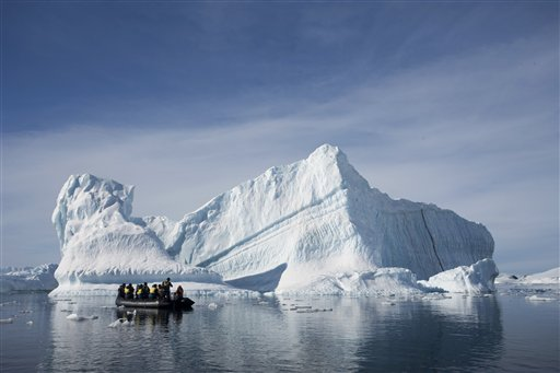 The very opposite of two weeks in Benidorm. (AP Photo/Aurora Expeditions, Andrew Halsall)