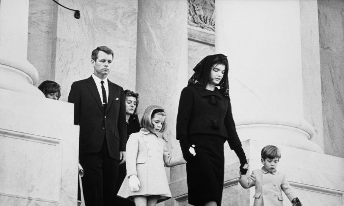 Kennedy family members leave the funeral ceremony for President John F. Kennedy, Nov. 24, 1963 (Abbie Rowe, National Parks Service/John F. Kennedy Presidential Library and Museum, Boston)