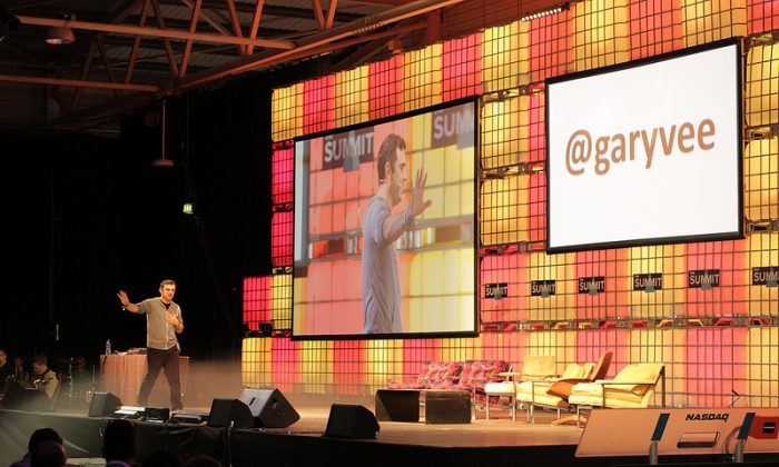 """Gary Vaynerchuk founder of VaynerMedia speaking at """"The Summit"""" conference in Dublin in October (The Summit)"""