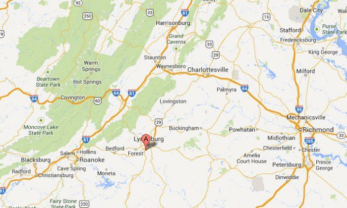 The location of Liberty University (Google Maps screenshot)