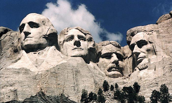 Mount Rushmore, in Keystone, S.D., in June 1995. (Karen Bleier/AFP/Getty Images)