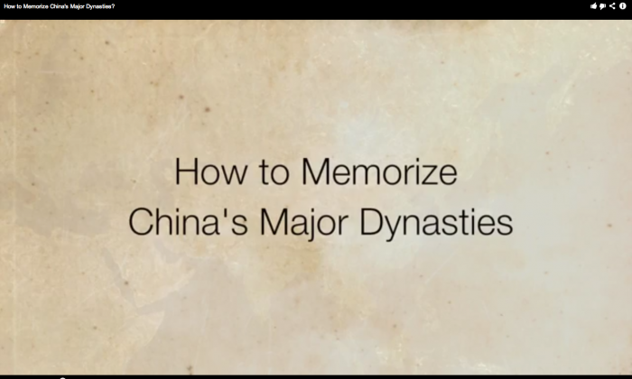 How to memorize Chinese dynasties. (Screenshot from Youtube by Epoch Times.)