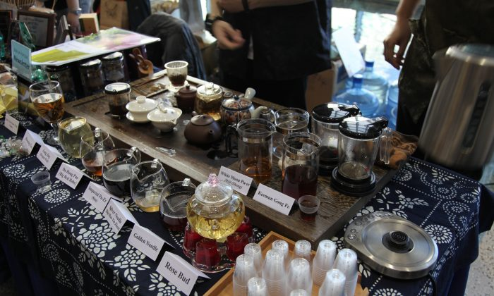 Some brewed teas ready for tasting at the 2012 Ottawa Tea Festival. (Ottawa Tea Festival)